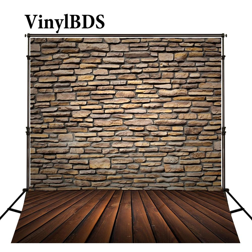 VinylBDS Newborn Baby Backdrop Photography Brown Wood Brick Wall Fond De Studio De Adults Use Fundo Fotografico Natal