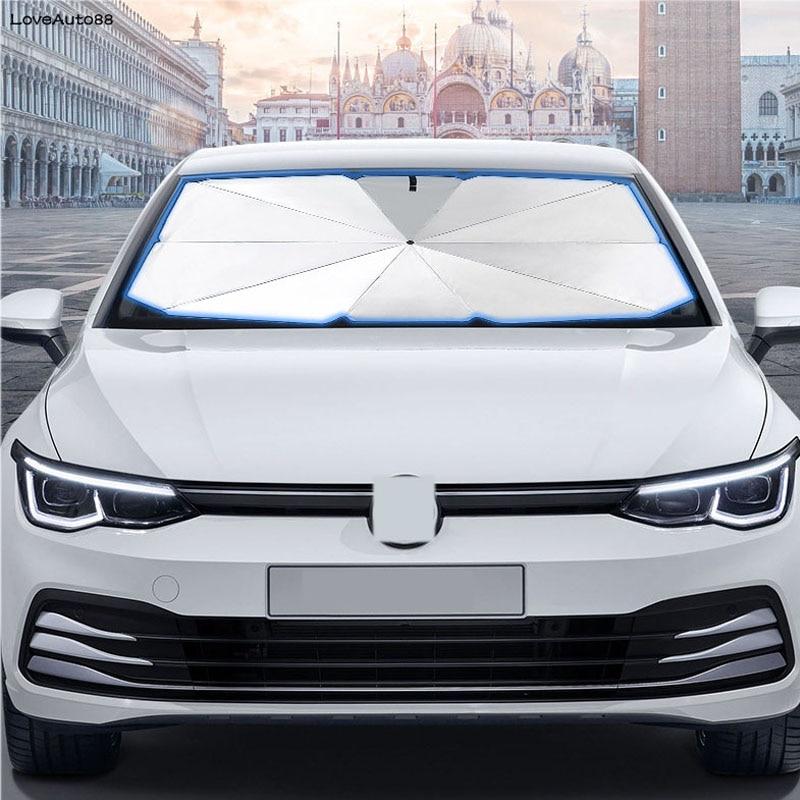 Parasol para coche, cubierta frontal para ventana Interior, Protector UV, paraguas plegable, parabrisas para Hyundai Verna Solaris 2017 2018 2019 2020