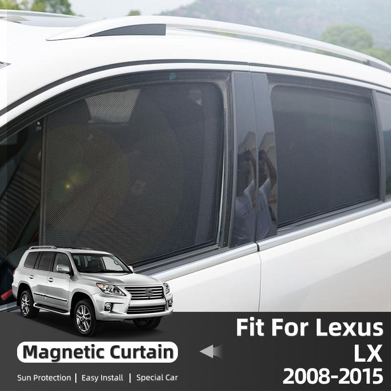 Магнитные автомобильные шторы для Lexus LX LX570 J200 2008-2015, солнцезащитные козырьки на окно, солнцезащитные аксессуары