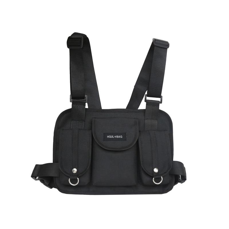 Bolsos de cintura para hombre chaleco táctico para hombre equipo de pecho funcional bolsa de pecho hip-hop chaleco bolsas para hombre Casual Paquete de cintura Streetwear