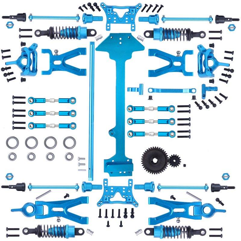 1 Set Complete Upgrade Parts Kit for 1/18 WLtoys A959-B A969-B A979-B K929-B Electric RC Car Off Roa