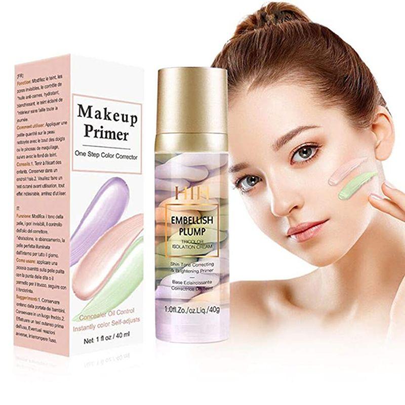 Imprimación de maquillaje, Corrector de Color de un solo paso, crema aislante, Corrector de tono de piel