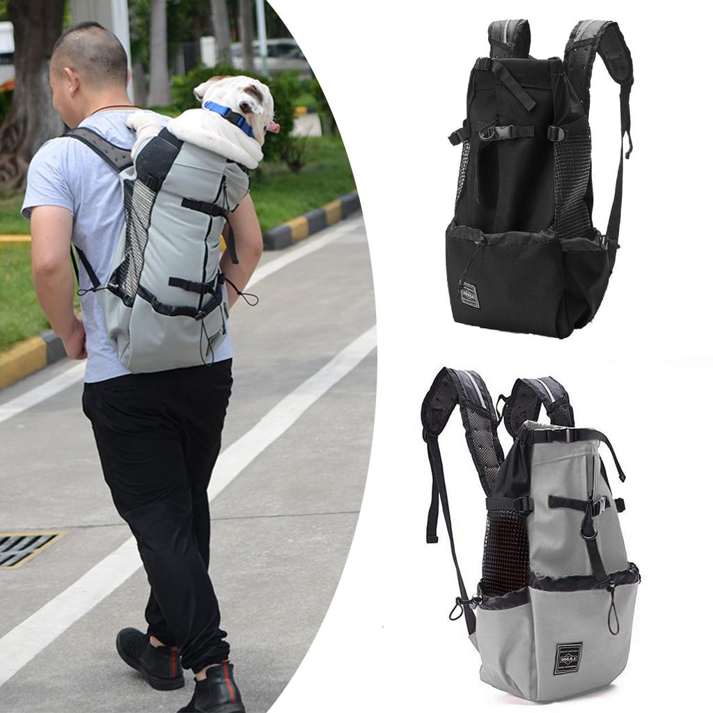 Fashion Breathable Pet Dog Carrier Bag For Large Dogs Golden Retriever Bulldog Backpack Adjustable Big Dog Travel Pets Cats