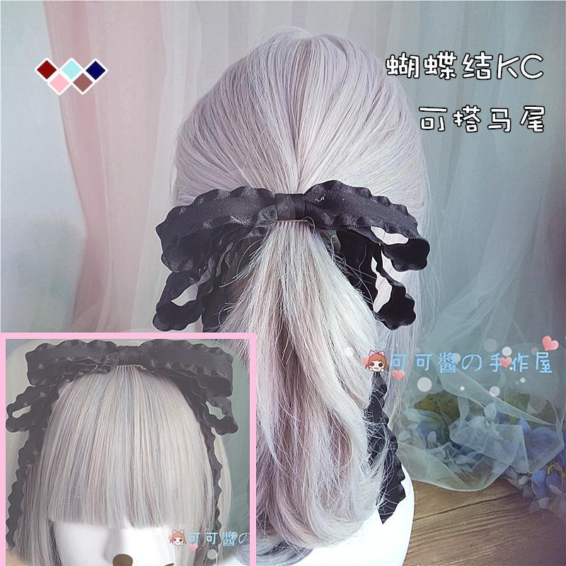 Lolita diadema clip superior accesorios para el cabello chica japonesa corazón loli suave hermana tocado Cola de Caballo clip lazo Lolita adornos