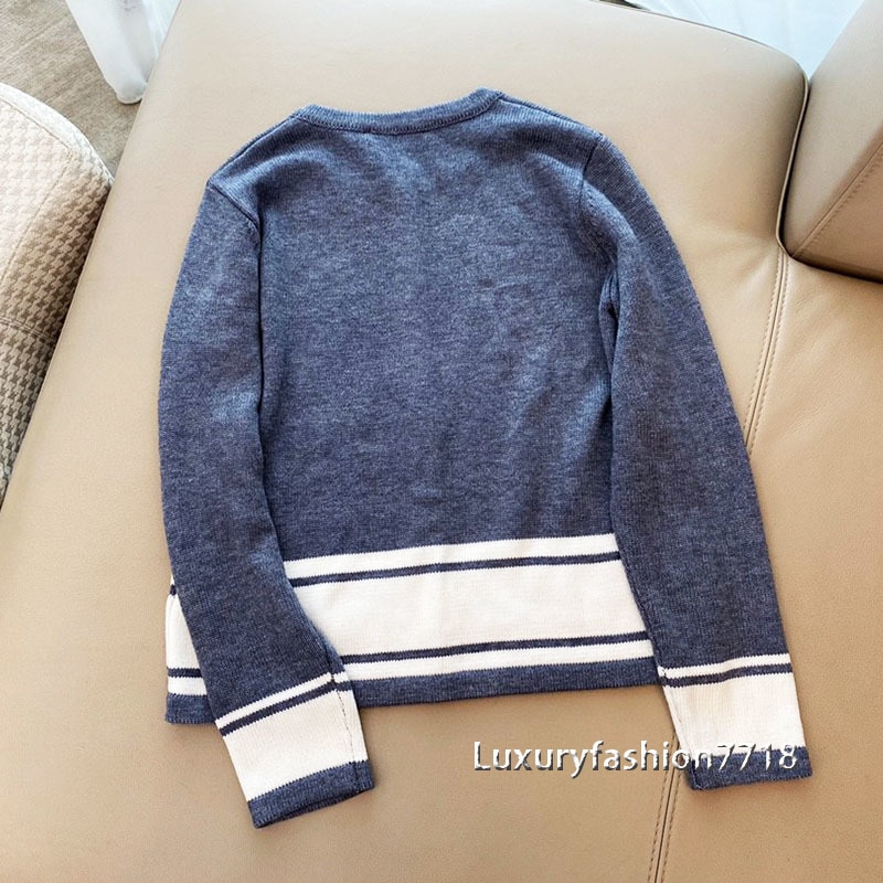 Brand fashion high end new style women cardigan clothes Wool letter logo jacquard Single breasted woman knit sweater cardigans enlarge