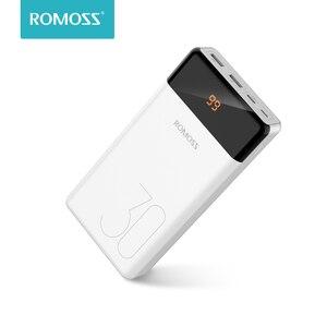 ROMOSS LT30 Повербанк 30000 мАч  USB Type C 30000мАч Пауэр банк Внешние аккумуляторы повер банк для телефона для Xiaomi Mi 9 8 11 iPhone 12 Pro