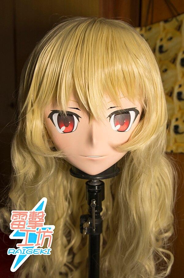 (Raigeki maks 64) resina 3/4 cabeça do sexo feminino/menina kigurumi anime cosplay máscaras crossdress japão papel lolita crossdresser boneca bjd cos