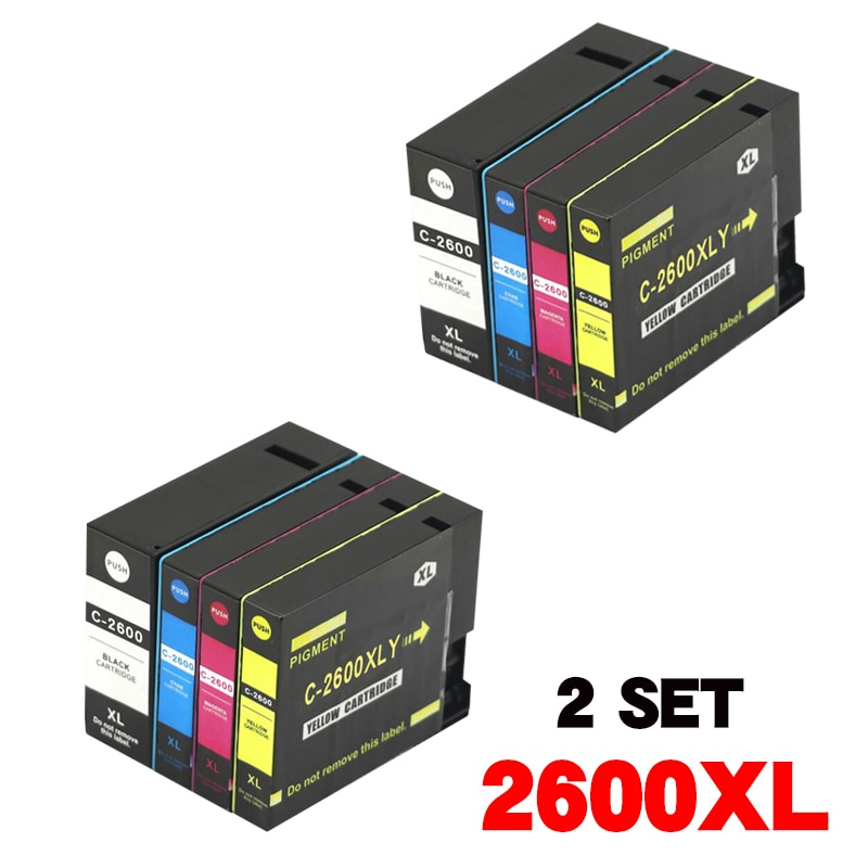خرطوشة حبر متوافقة مع canon MAXIFY IB4060 MB5060 MB5160 MB5360 MB5460 وما إلى ذلك. 2 مجموعة/3 set/set plus 1BK PGI2600XL PGI 2600XL