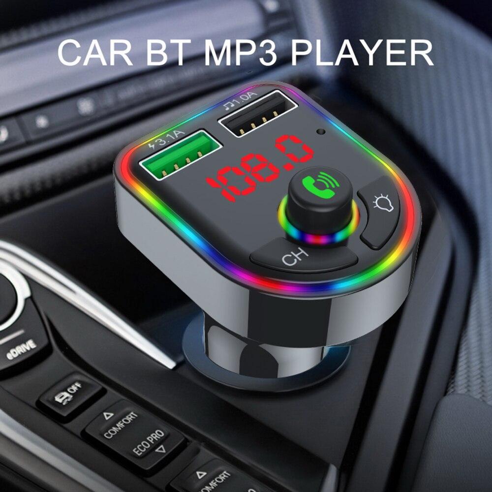 Автомобильный MP3-плеер с поддержкой Bluetooth, беспроводной аудиоприемник громкой связи, Автомобильный MP3-плеер, USB QC3.0, быстрое зарядное устройс...