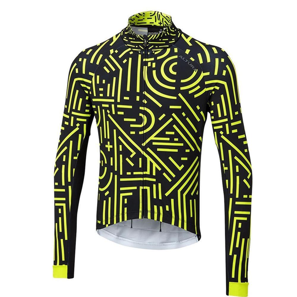 Altura Icon-Camiseta térmica de lana para ciclismo profesional, Jersey de equipo de...