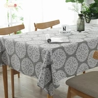 proud rose gray vntage tablecloth table runner cotton linen square table cloth tv cover cloth tea table cloth custom