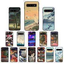 Японский стиль кран Fuji Mountain Wave чехол для телефона Samsung Galaxy S10 плюс S10E S20 ультра S7 S8 S9 плюс S10lite S20 плюс