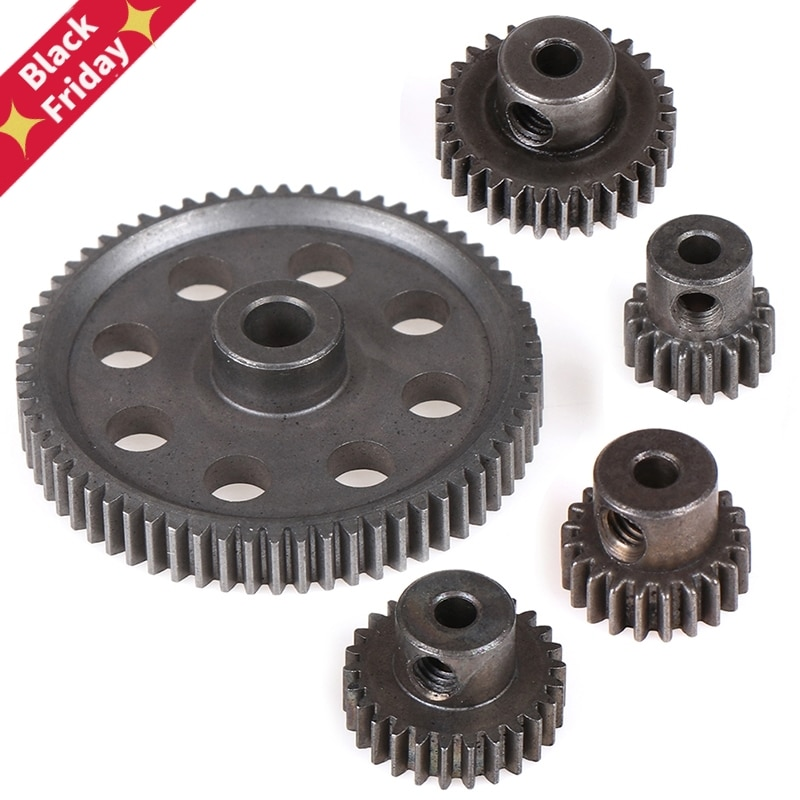 11184 Metal Diff Main Gear 64T 11181 Motor Pinion Gears 21T Truck 1/10 RC Parts HSP BRONTOSAURUS Him