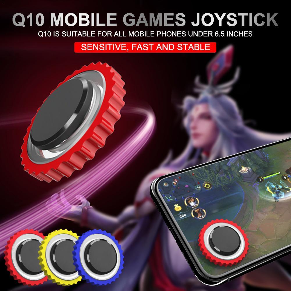 Q10 mando de juegos móvil juegos Joystick ronda pantalla de juego idiota controlador rojo/azul Compatible para Android IOS de la computadora móvil