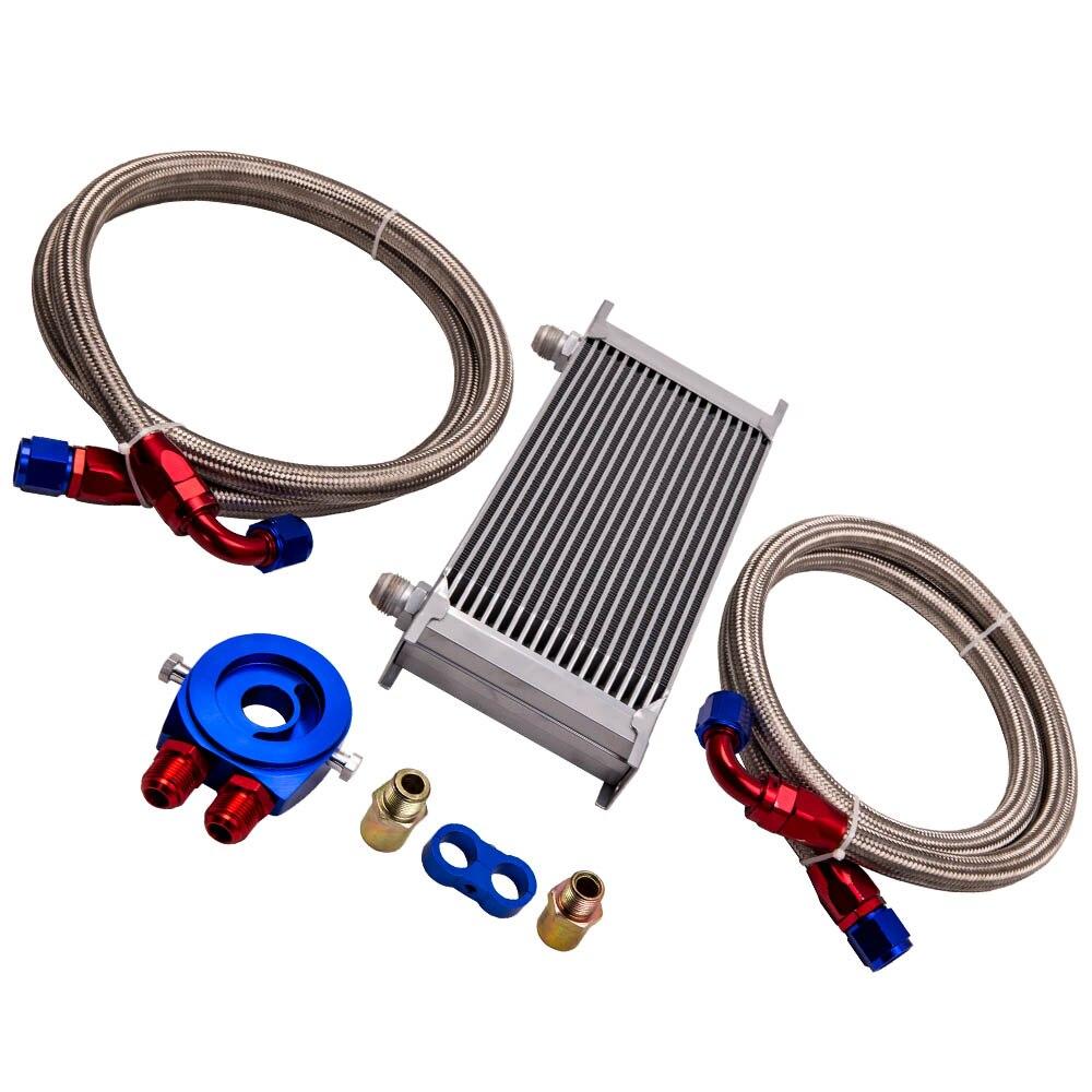 Kit de manguera de filtro de enfriador de aceite de transmisión de motor Universal AN10 de 19 filas