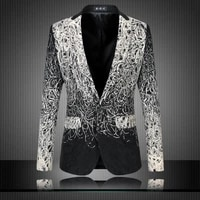 2021 banquet party suit jacket evening dress fashion jacquard casual business jacket slim men wedding jacket male clothing s 6xl