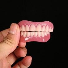 1 paire de dents de placage de rire dents de prothèse dentaire blanchissent la couverture de faux dents