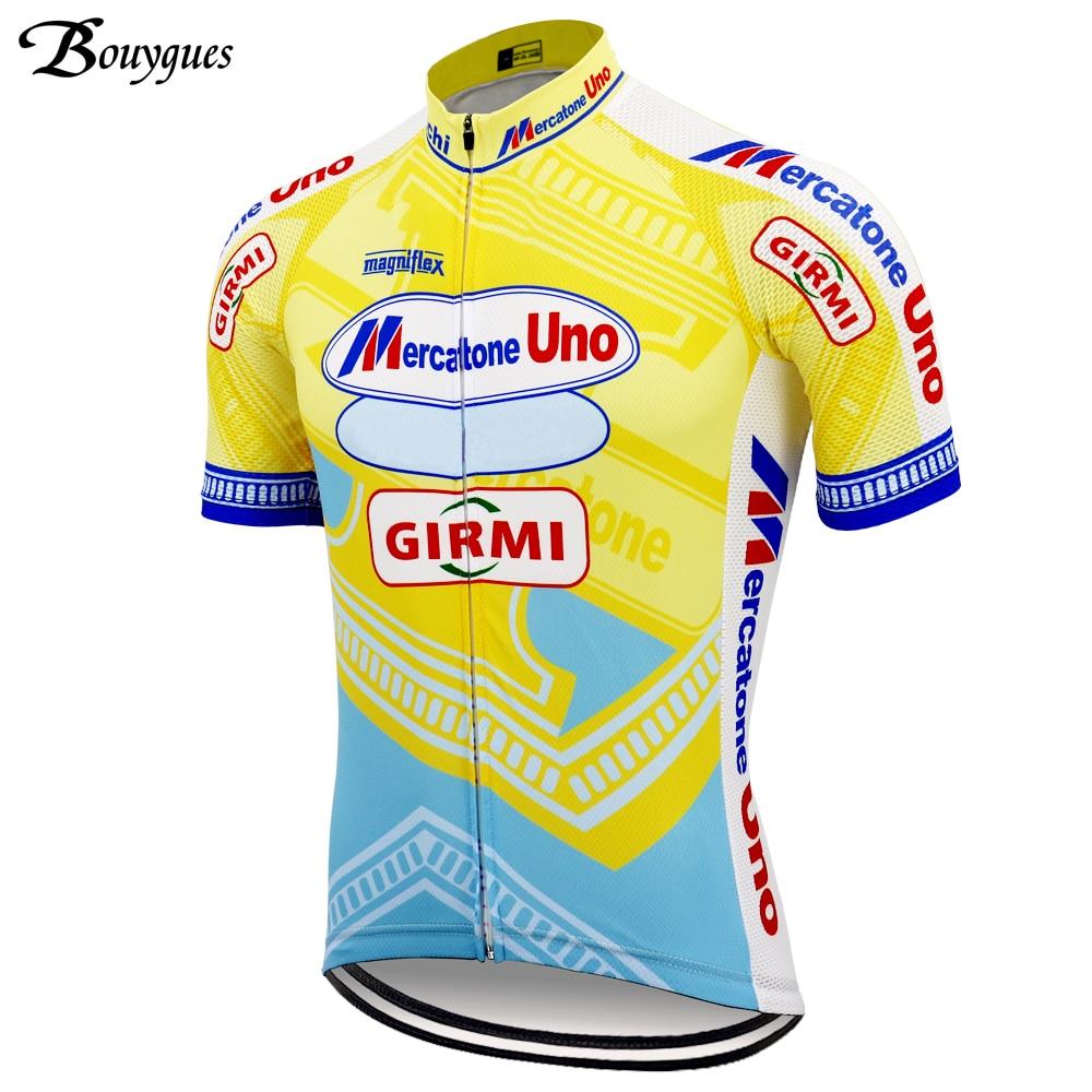 Итальянская мужская классическая велосипедная Джерси, желтая летняя одежда для велоспорта, ropa ciclismo hombre, командная одежда для велоспорта, MTB ...