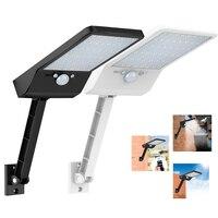 Лампа с солнечной батареей для наружных работ, датчик движения PIR, безопасный Жардин, непроницаемый,