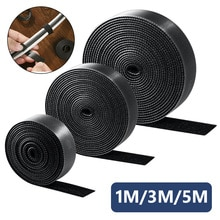 1/3/5M Cable Organizer Long 1cm 1.5cm Width 1 Roll Hook Loop Tape Strap Cable Tie Fastener Self Adhesive Roll Wrap Wire Clip