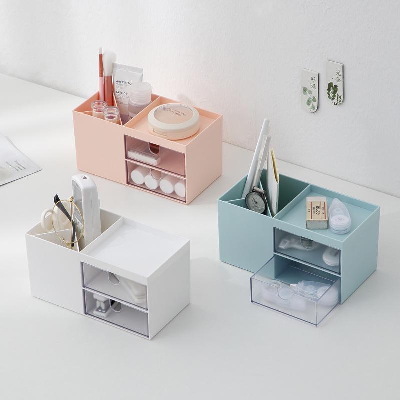Multi-camada transparente gaveta de armazenamento caixa de armazenamento de cosméticos desktop sundries organizador caixa de jóias gavetas de plástico gabinete organizador
