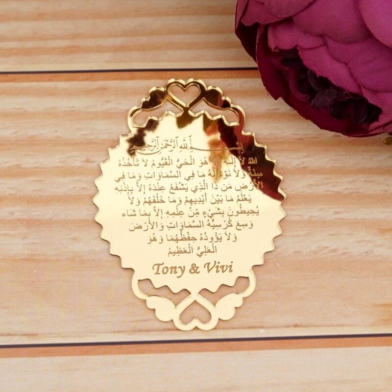 20 Uds 9,5x7cm Placa de espejo de acrílico con texto personalizado 2mm decoración para fiesta de boda suministros artesanales