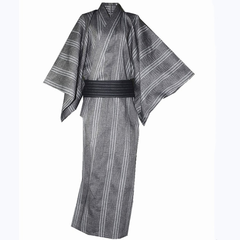 Халат для мужчин, кимоно, ночная рубашка, мужская длинная ночная рубашка