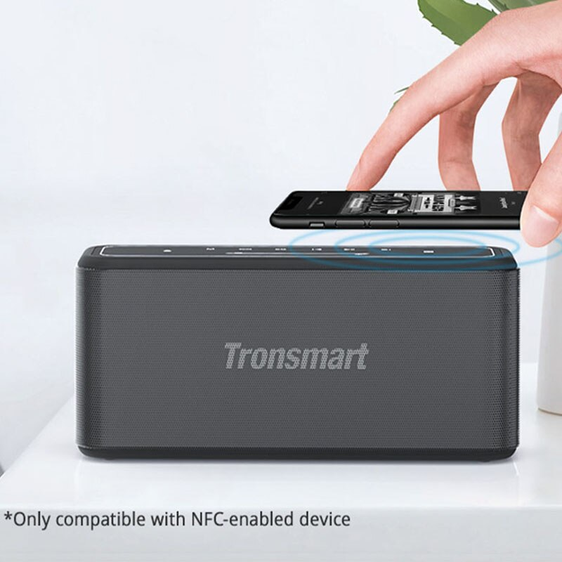 Tronsmart Mega Pro 60W Portable Bluetooth Speaker TWS Home Speaker with Enhanced Bass, NFC, TWS, IPX5 Waterproof,Voice Assistant