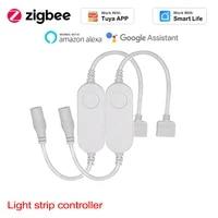 Tuya     Zigbee3 0 lampe LED RGB pour maison connectee  5-24V  avec controleur  Compatible avec Alexa et Google Home