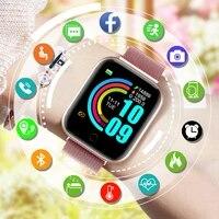 fashion smart watch women 2021 smartwatch men kids sport wrist watch fitness bracelet tracker heart rate monitor for android ios