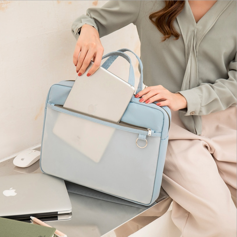 document bag women waterproof 14inch laptop handbag Office Filing Briefcase Products Storage Stationery