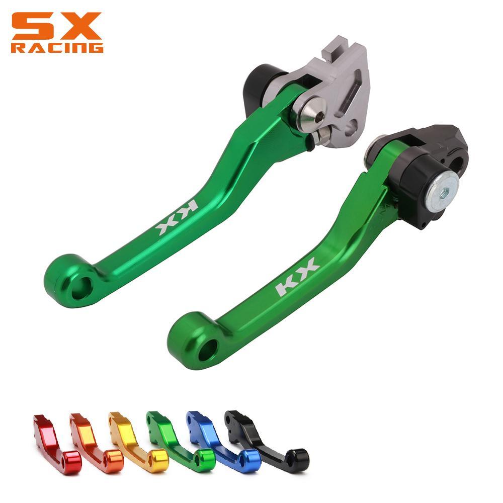 Motorcycle CNC Dirt Bike Pivot Foldable Brake Clutch Levers For Kawasaki KX65 KX85 KX125 KX250 KX250F KX 65 85 125 250