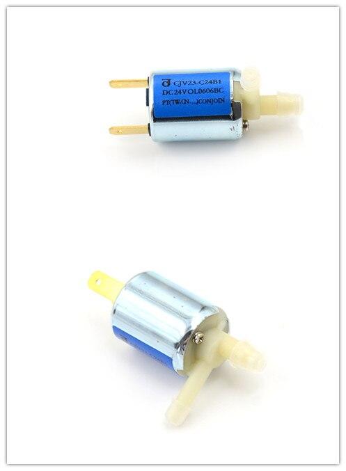 Válvula Solenoide DC24V para Gas agua aire normalmente cerrada pequeña válvula solenoide de plástico