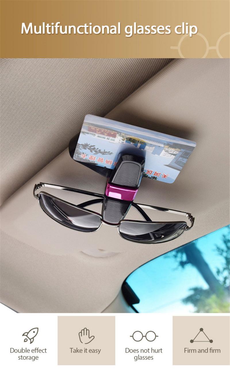 Parasol para coche gafas de sol soporte de fibra de carbono gafas de sol Clip soporte de coche para accesorios de coche montaje con Clip de tarjeta de billete