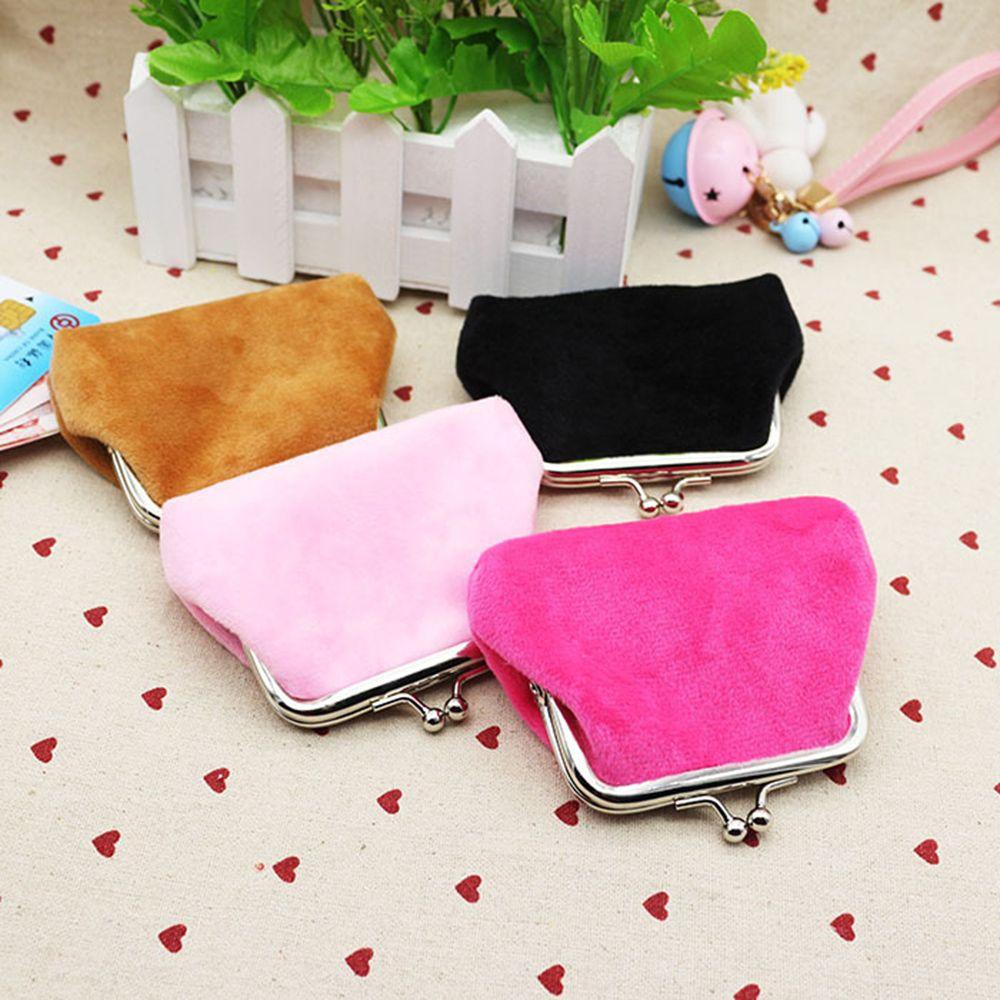 Women Corduroy Small Wallet Holder Coin Purse Clutch Handbag Bag Mini Pouch Corduroy Hasp Solid