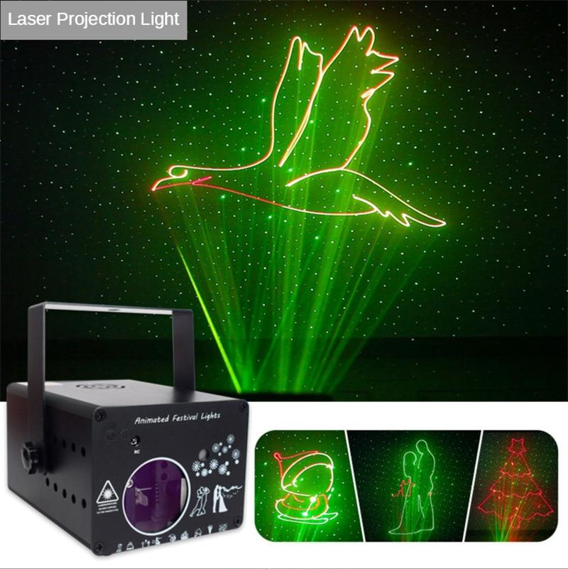 3D Full Color Animation Laser Projection Light Christmas Bar KtV Beam Animation Stage DJ Disco Laser Light 3d Led Lamp