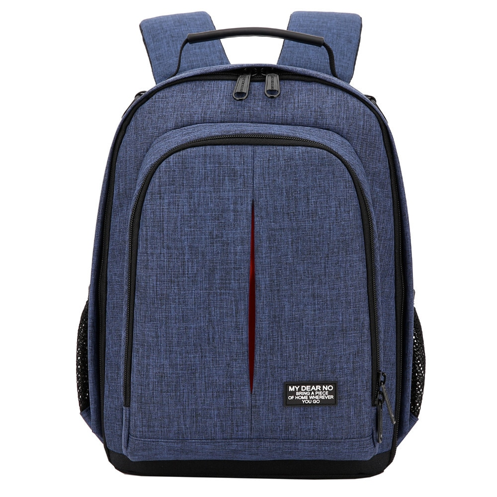 Camera Fashion Stylish Waterproof Oxford DSLR Shoulders Backpack Small Video Soft Padded Bag w/ Rain Cover Men Women DSLR Case