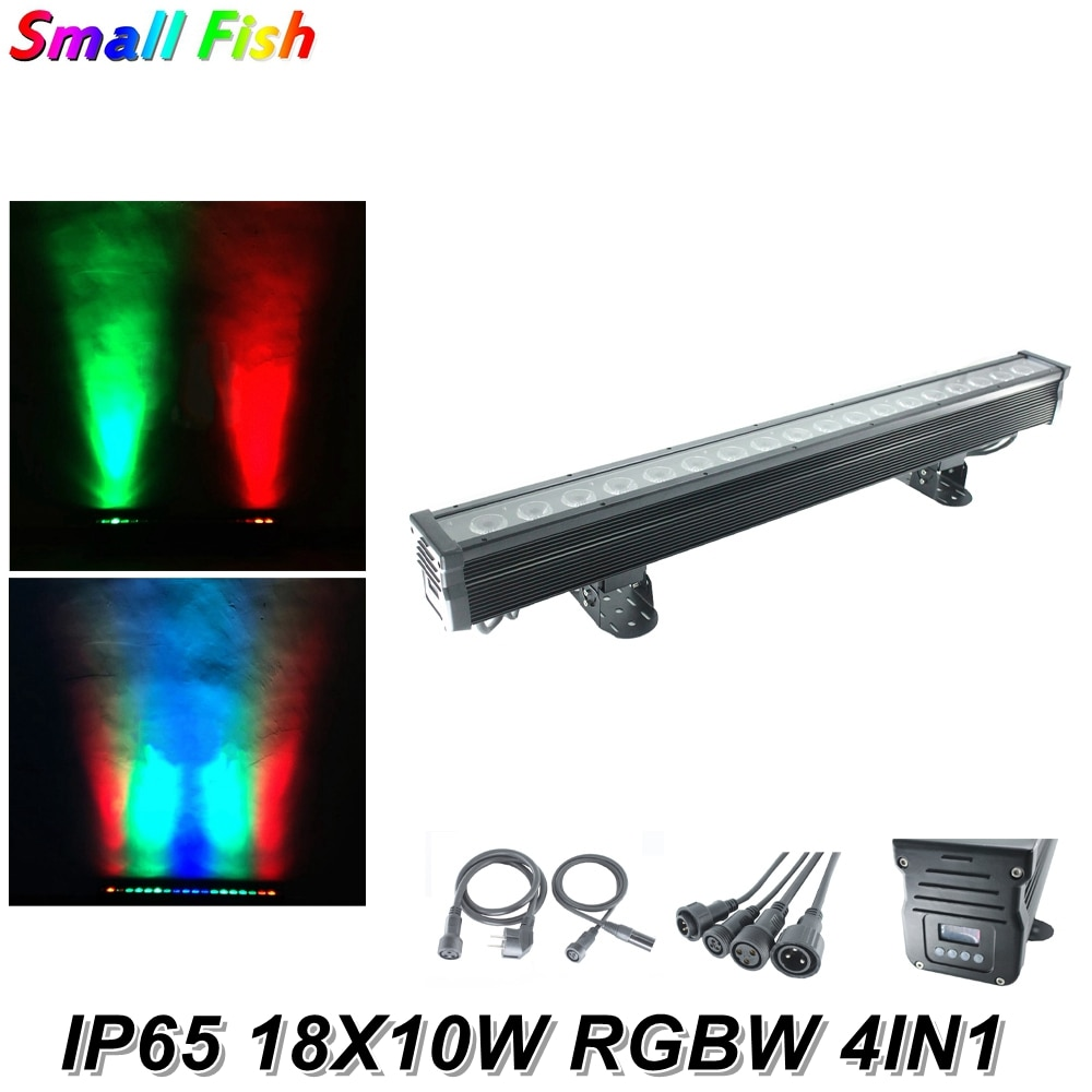 18X10W RGBW 4IN1 LED Wall Wash Light Waterproof DMX LED Bar Light For Disco Party NightClub LED Pixels Individually Controllable