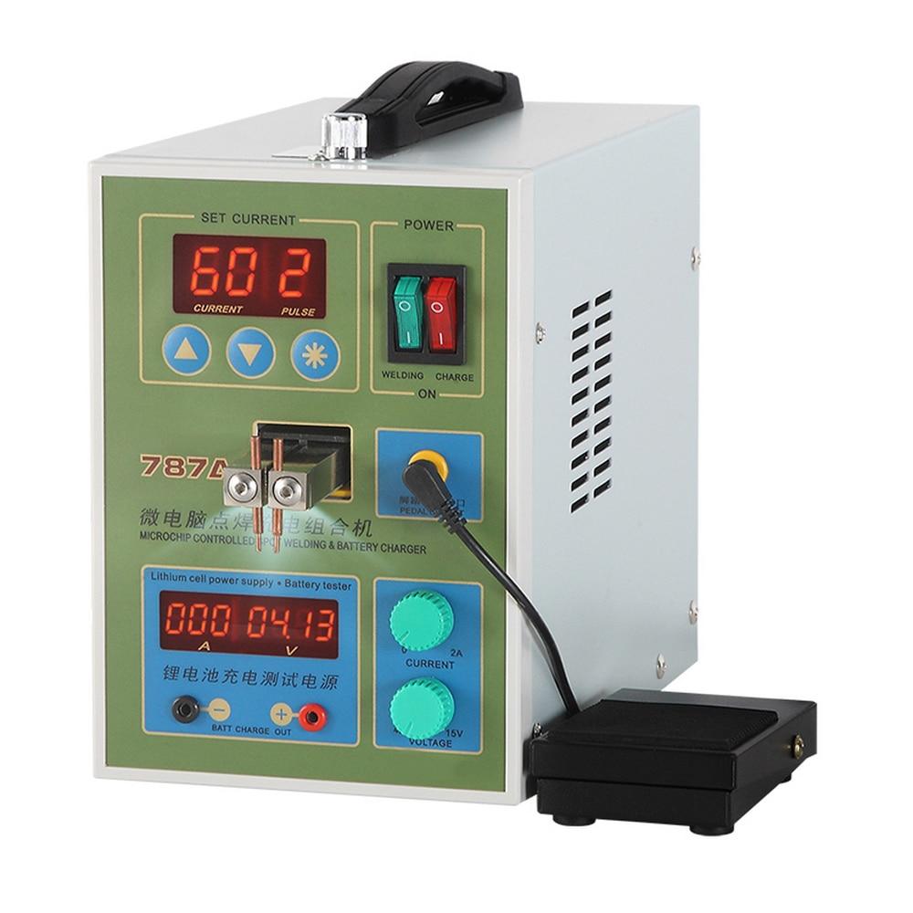 SUNKKO بطارية آلة لحام بعقب نبض مزدوج صغير 18650 بطارية ماكينة لحام نقطي زر بطارية لحام آلة مجموعة