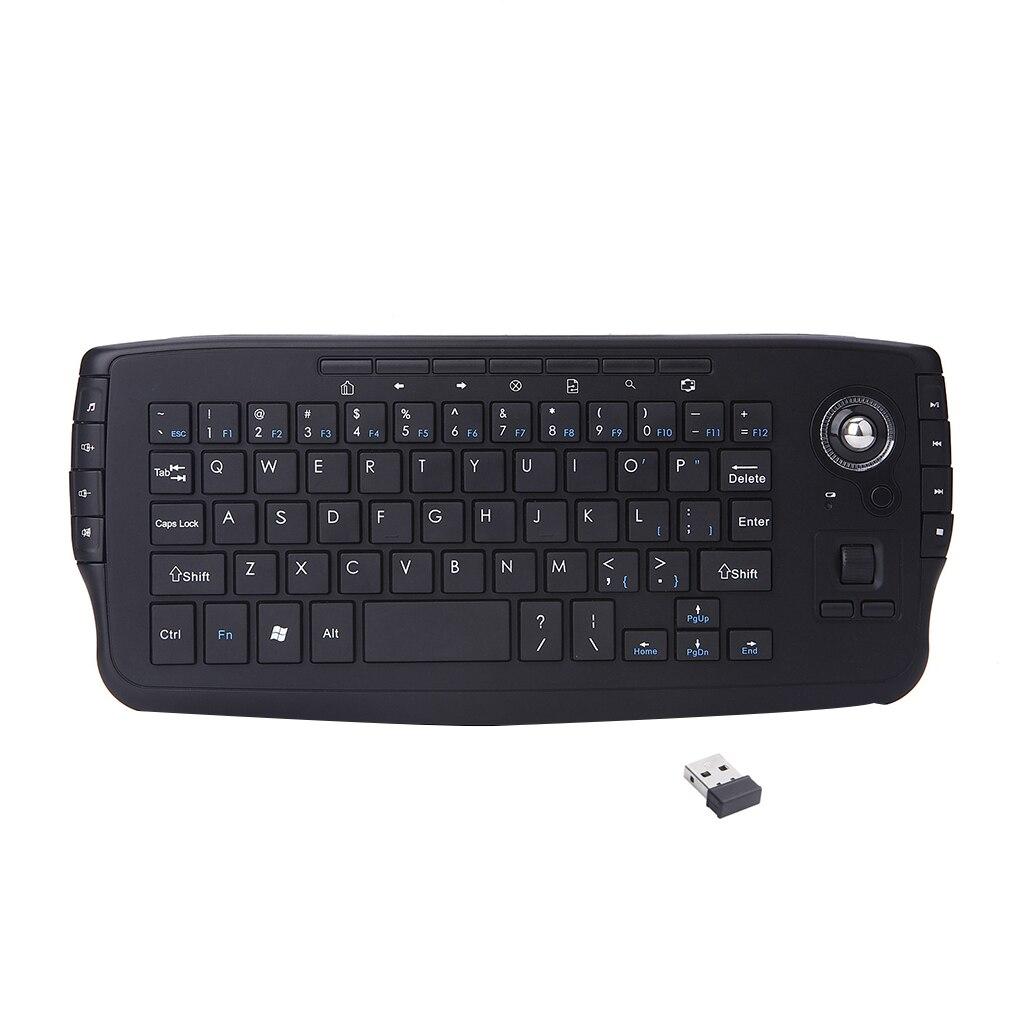 2.4g trackball teclado sem fio multi-media funcional teclado do rato de ar universal teclado de escritório em casa para android tv pc
