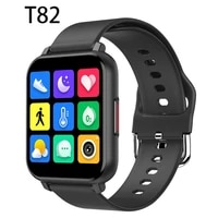 2021 new t82 smartwatch 1 55 inch full touch sports fitness smartwatch male and female heart rate blood pressure game features