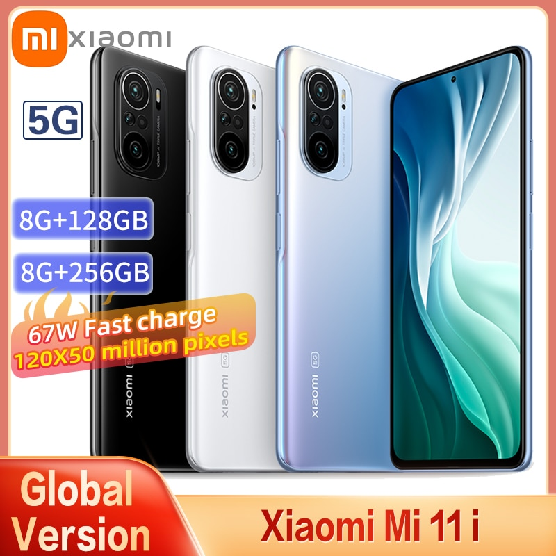 Original Xiaomi Mi 11i 5G NFC Smartphone 8GB +128GB ROM Snapdragon 888 Octa Core 108MP Camera 120Hz AMOLED Display Mobile Phone