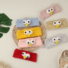 2021 New Big 3D Eyes Headband For Baby Solid Cotton Hairband Hair Ties For Kids Boys Girls Hair Acce
