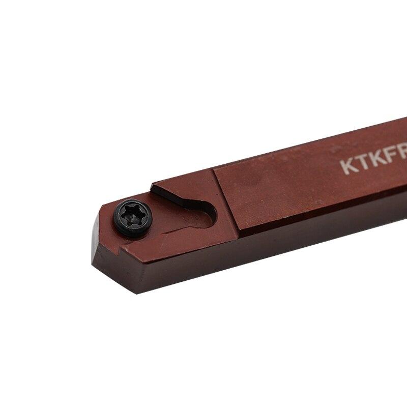 1 ud. KTKFR 1616JX16 KTKFR1616JX12 portaherramientas de torneado de acero con resorte, herramientas de corte de torno CNC, portaherramientas de mecanizado
