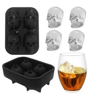 3d skull ice mold skull shape chocolate mould silicone cold drinking ice cube maker tray ice cream diy whiskey wine ice tray