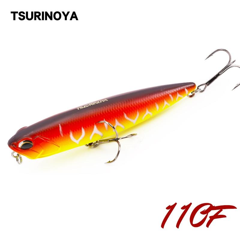 TSURINOYA DW58 Long distance throwing Top water Pencil 110mm 20.5g Fishinglure Pencil Articial bait Bass bait Snakehead lure