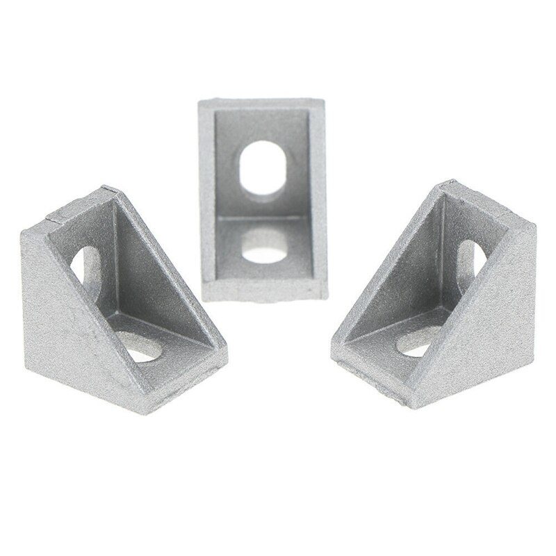 CSS 20Pcs 2020 Corner Fitting Angle Aluminum 20 X 20 L Connector Bracket Fastener Match Use 2020 Industrial Aluminum Profile enlarge