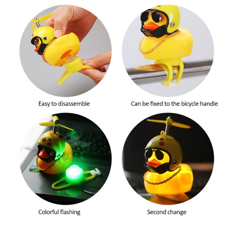 Ornament Helmet-Mounted Yellow Duck Auto Ornaments Cute Wave-Breaking Duck  Creative Car Dashboard Toys Car Interior Accessories