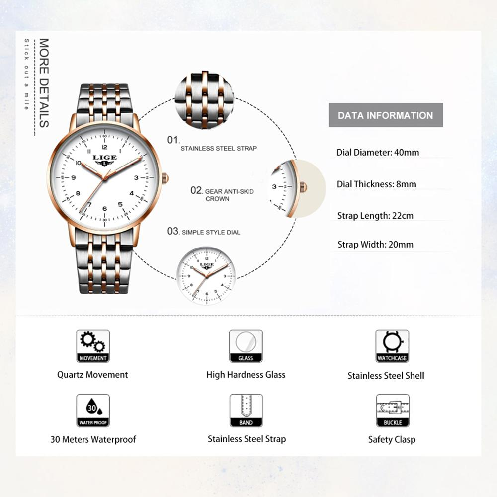 LIGE 2020 New Gold Watch Women Watches Ladies Creative Steel Women's Bracelet Watches Female Waterproof Clock Relogio Feminino enlarge