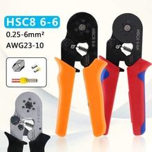 HSC8 6-4A HSC8 6-6 Tubular Terminal Crimpen Werkzeuge Mini Elektrischen Zange 23-7AWG 6-4A/6-6A 0,25-6mm2 Hohe Präzision Clamp Set
